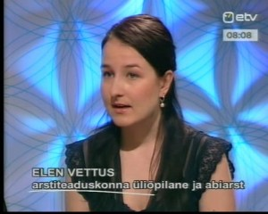 Elen Vettus Terevisioonis 23. mai 2012