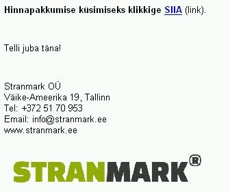 Stranmark ei ole registreeritud kaubamärk.