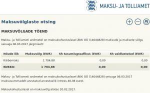 ÄKK OÜ (14044828) maksuvõlg
